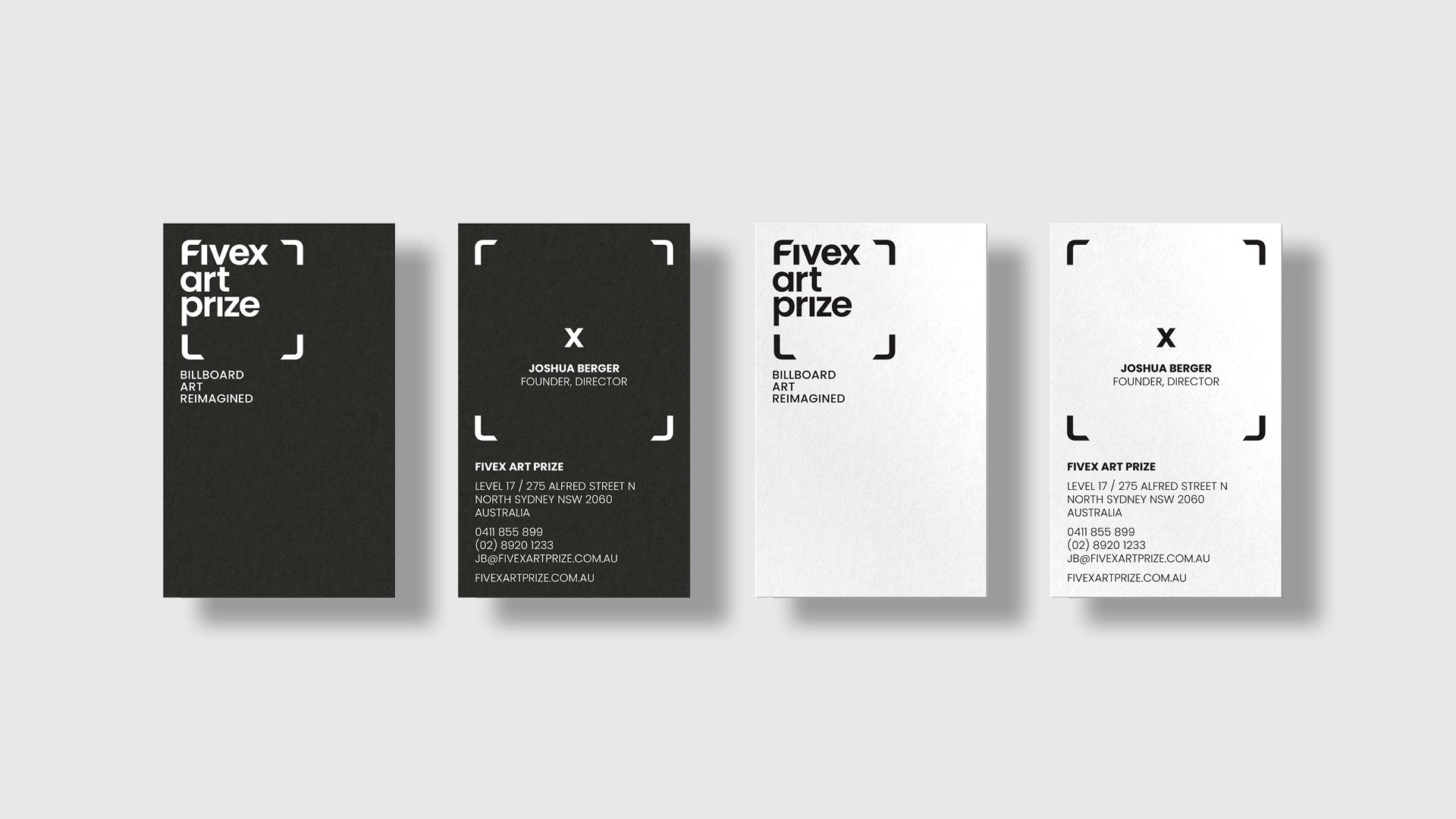 Five X Art Prize branding